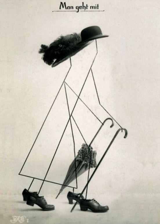 Hannach Höch- Man Geht Mit, 1916