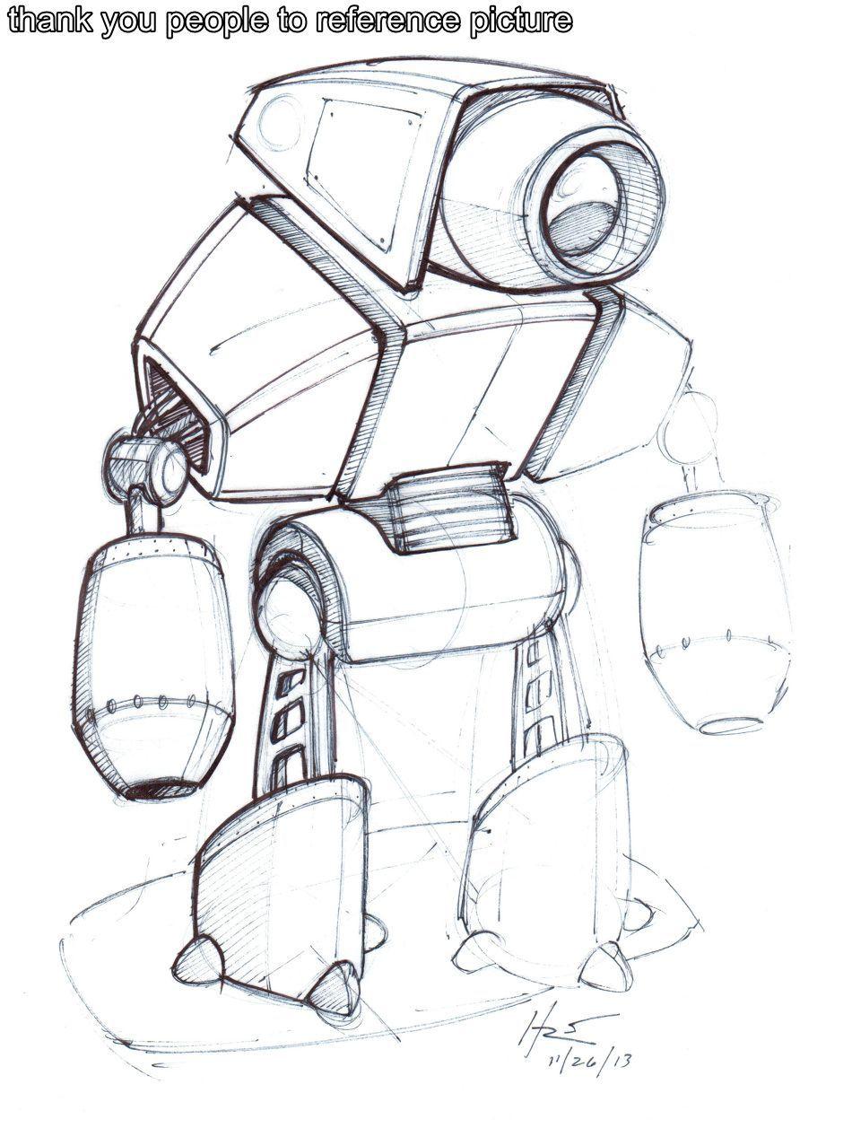 Robot3 Robot Design Sketch Robots Drawing Robot Illustration