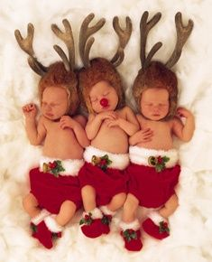 Are these are those most adorable reindeer that you have ever seen ♥♥♥  Happy Holidays from http://babies411.com