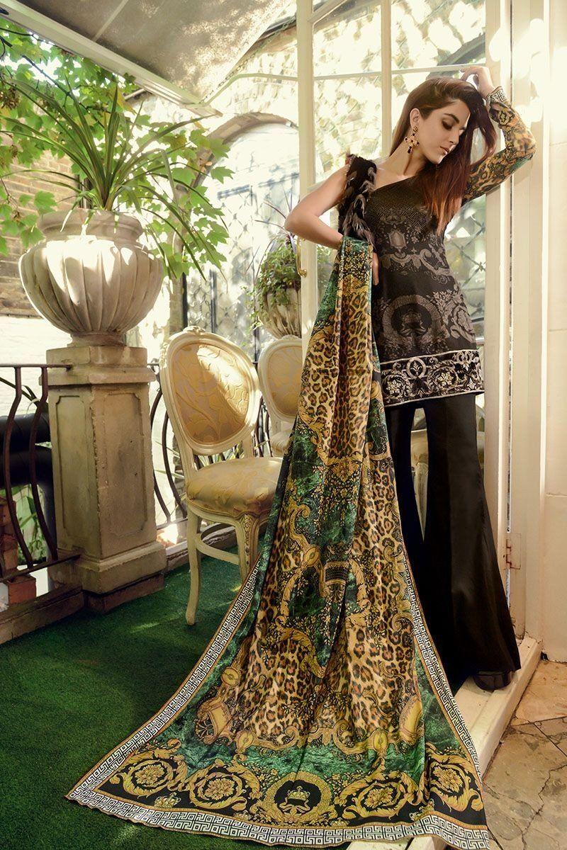 f74704eeef Pakistani Dresses 2017, Pakistani Outfits, Pakistani Bridal Wear, Maria B,  Black Linen
