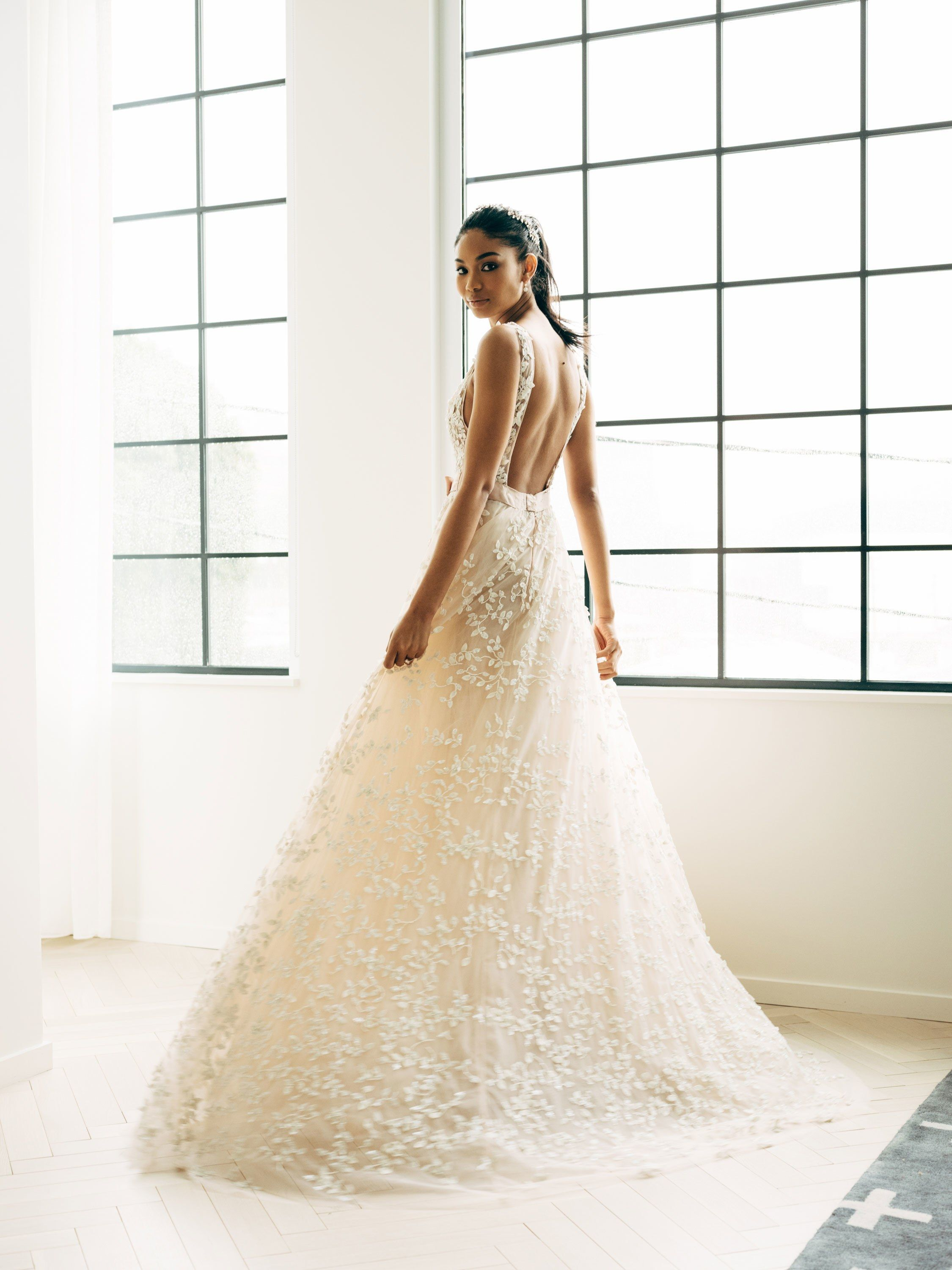 d68943a4d1287 Inside Chanel Iman s Final Wedding Dress Fitting Before Walking Down the  Aisle in Beverly Hills
