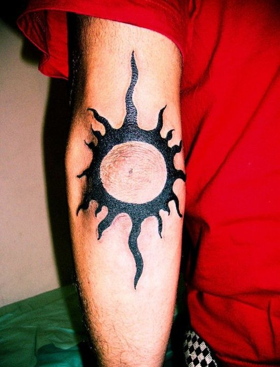 Sun Elbow Tattoo : elbow, tattoo, Elbow, Tattoos