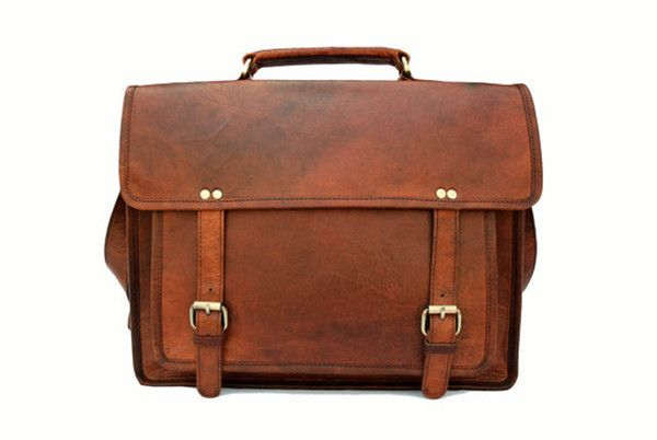 Full Grain Leather Briefcase 15
