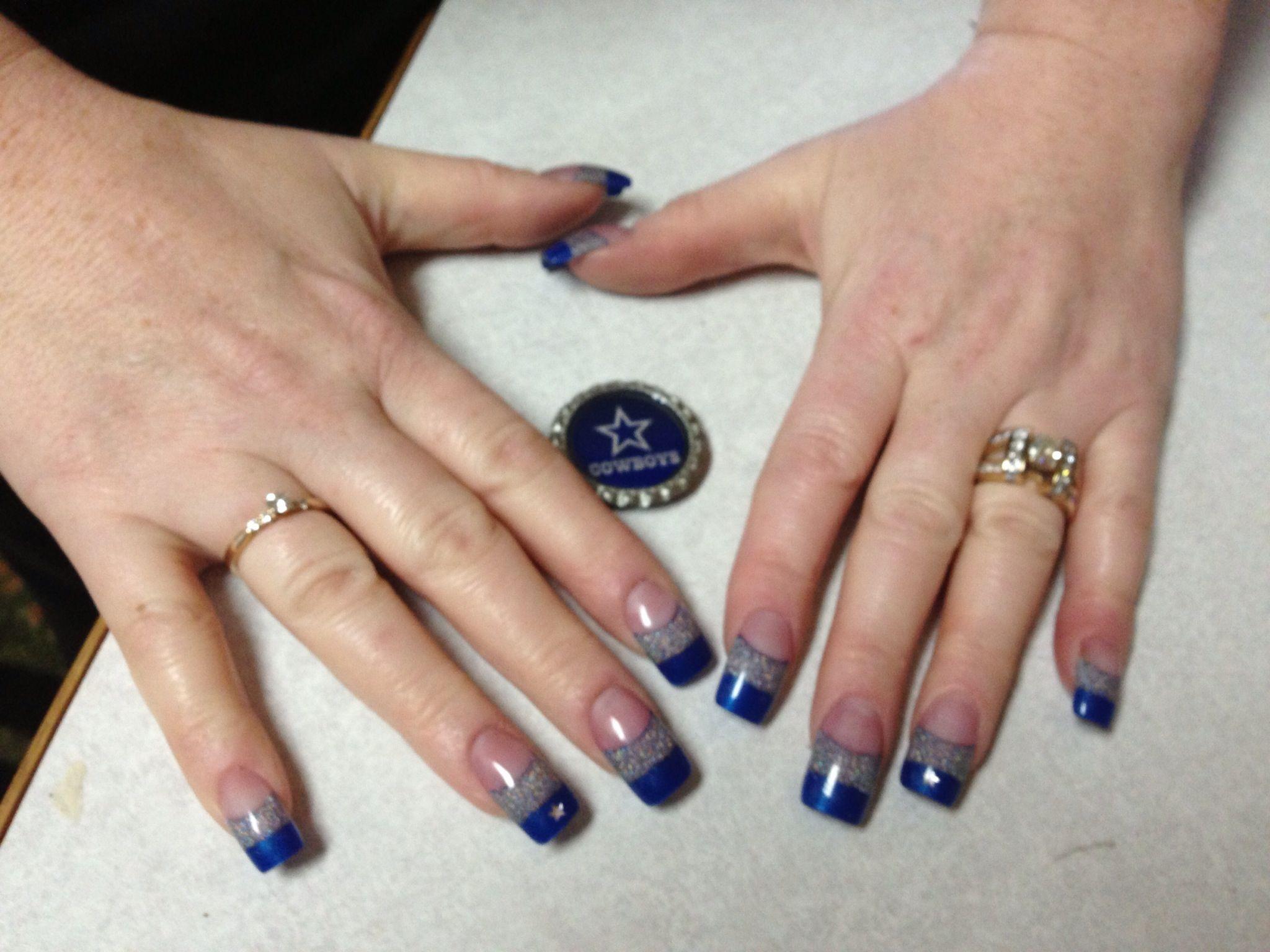 Dallas Cowboys nails | Nail designs | Pinterest | Dallas cowboys ...
