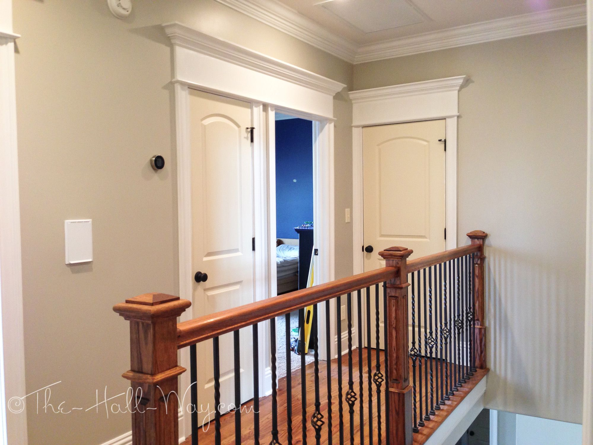The Hall Way Behr Sculptor Clay and Silky White Premium Plus Ultra