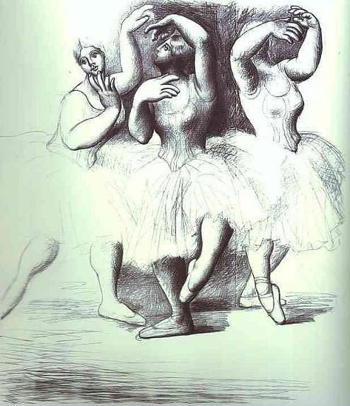 Three dancers. \\ Pablo Picasso.