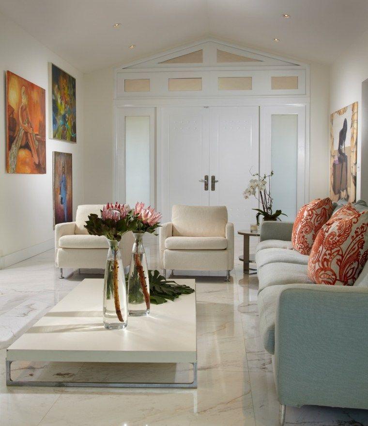 Decoraci n salones 36 ideas de dise o decoracion for Decoracion hogar jarrones