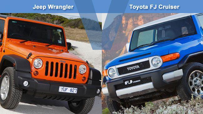 jeep wrangler vs toyota fj cruiser cara a cara revision-carsguide