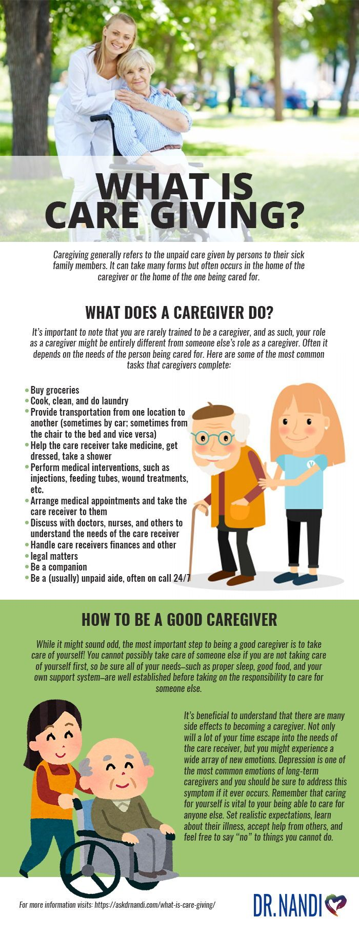 What does it mean to be a caregiver? Healthy lifestyle