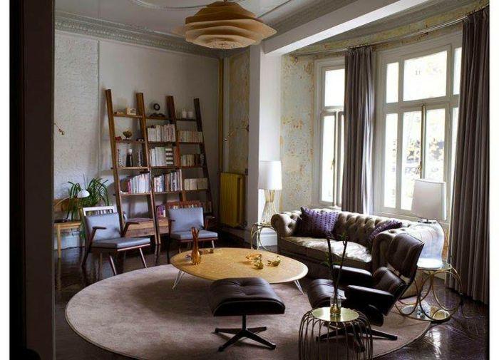 1001 ideas de interiores encantadores en estilo vintage for Sala de estar estilo vintage