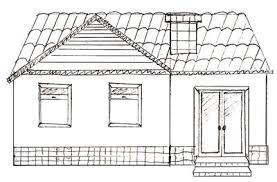Image result for pucca house without colour picture