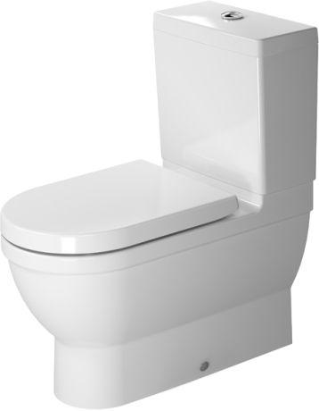 Rear Exit Starck 3 Toilet Close Coupled Toilete Bano Gris Y Blanco Diseno De Wc
