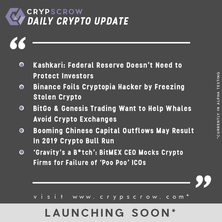dailycryptoupdate #cryptonews #crypscrow #kashkari #federalreserve