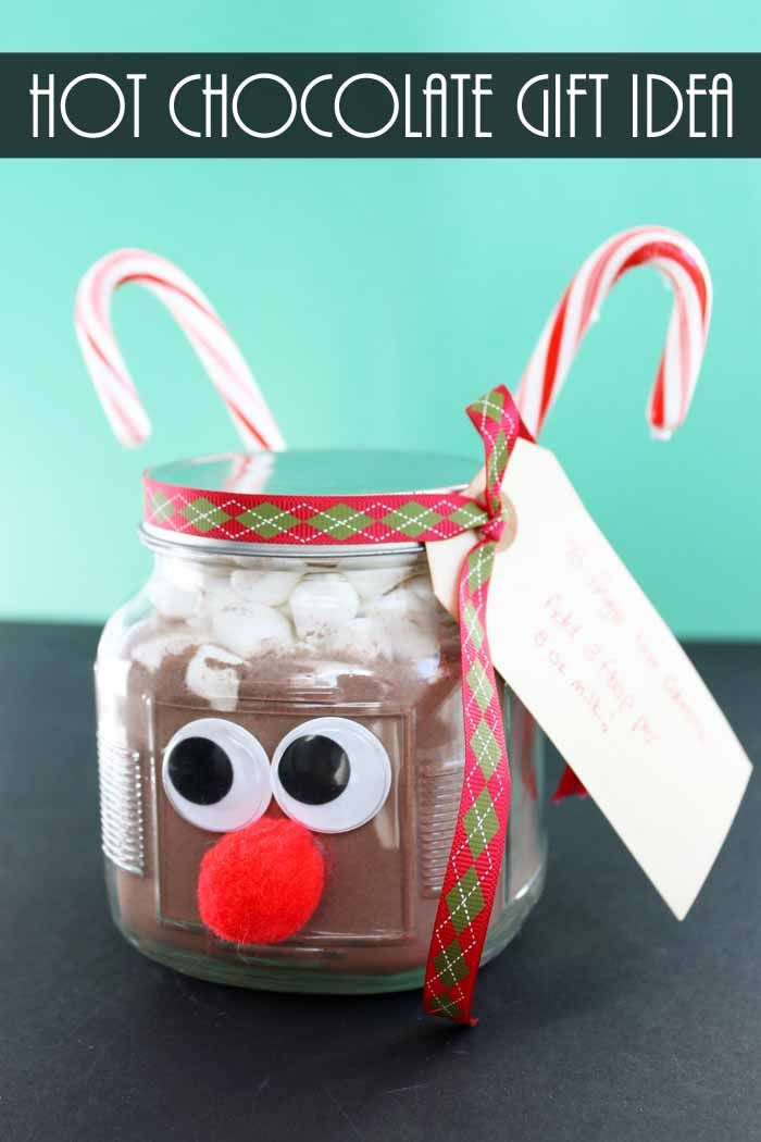 Hot Chocolate in a Jar Gift Idea Dollar Store Crafts Pinterest