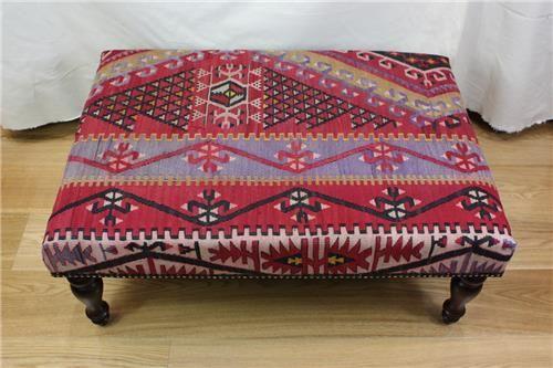 Great R7595 Handmade Turkish Kilim Coffee Table Ottoman 4406: Itshandicraft.com:  Furniture:
