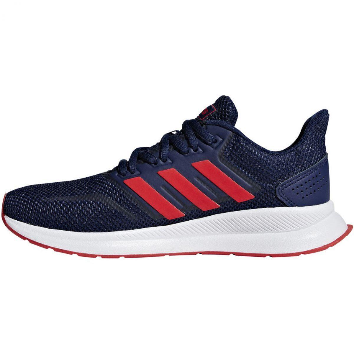 Treningowe Bieganie Sport Adidas Granatowe Buty Biegowe Adidas Falcon K Jr F36543 Adidas Adidas Running Shoes Running Shoes