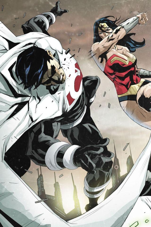 Justice League Beyond 2.0 #20. Wonder Woman vs Superman