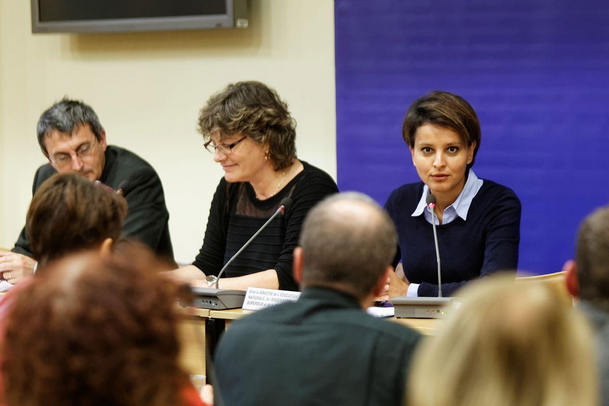 Najat Vallaud-Belkacem s'est exprimée devant le Conseil supérieur de l'éducation (CSE) extraordinaire dédié à l'évaluation des élèves, le mercredi 8 octobre 2014. La ministre de l'Éducation nationale, de l'Enseignement supérieur et de la Recherche a souligné que