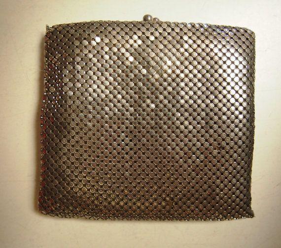 Vintage 1980's silver ladies slim-line glow mesh by VintageTwists
