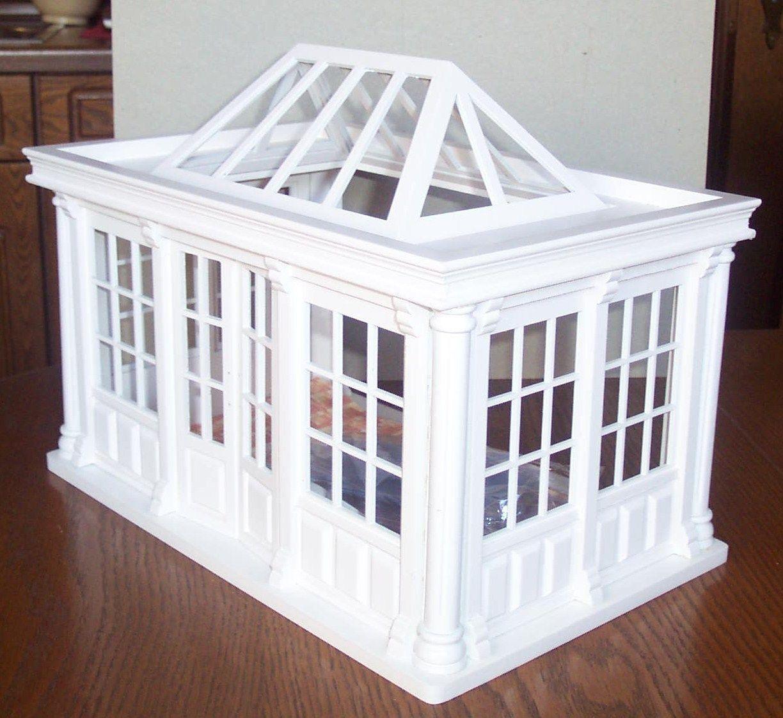 Luxuriöser Wintergarten, Orangerie   Weiss   Miniatur 1:12 Puppenhaus   EBay