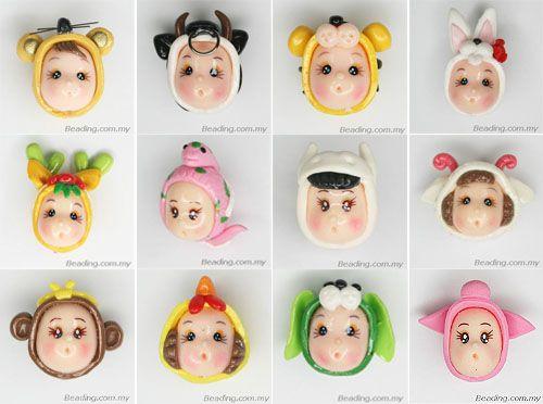 12-chinese-zodiac-polymer-clay-doll-head