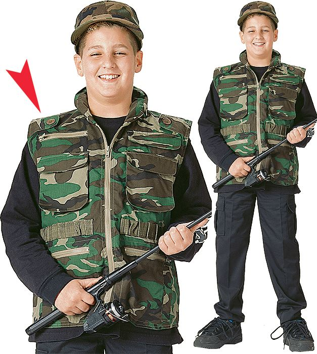 ff05b5b1463d3 Woodland Camouflage - Kids Outdoor Ranger Vest. Woodland Camouflage - Kids  Outdoor Ranger Vest Army Navy Store ...
