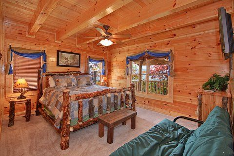 Amazing View Manor Formerly Dream View In Sevierville Single Bunk Bed Large Cabin Luxury Cabin