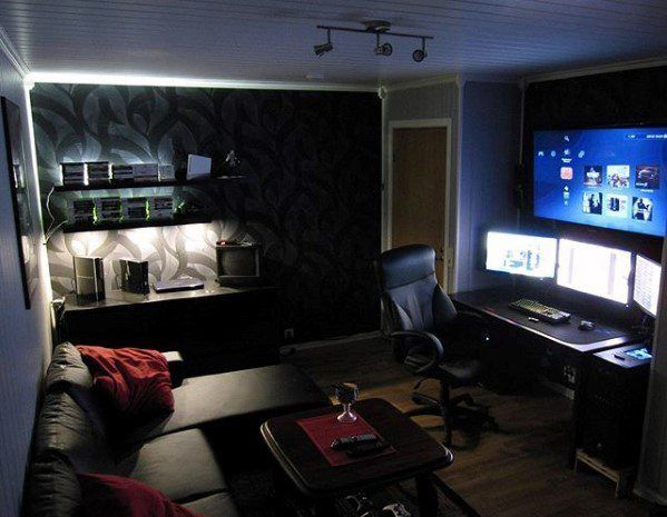Small Man Cave Design Ideas : Gaming man cave design ideas for men manly home retreats