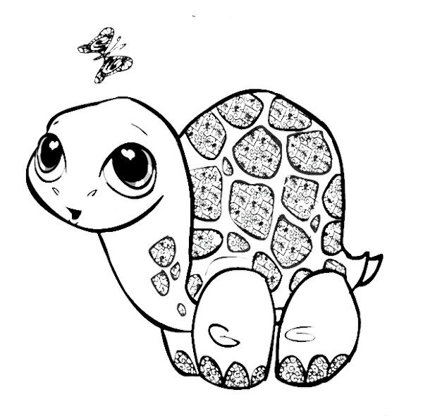Cute Baby Turtle Coloring Pages