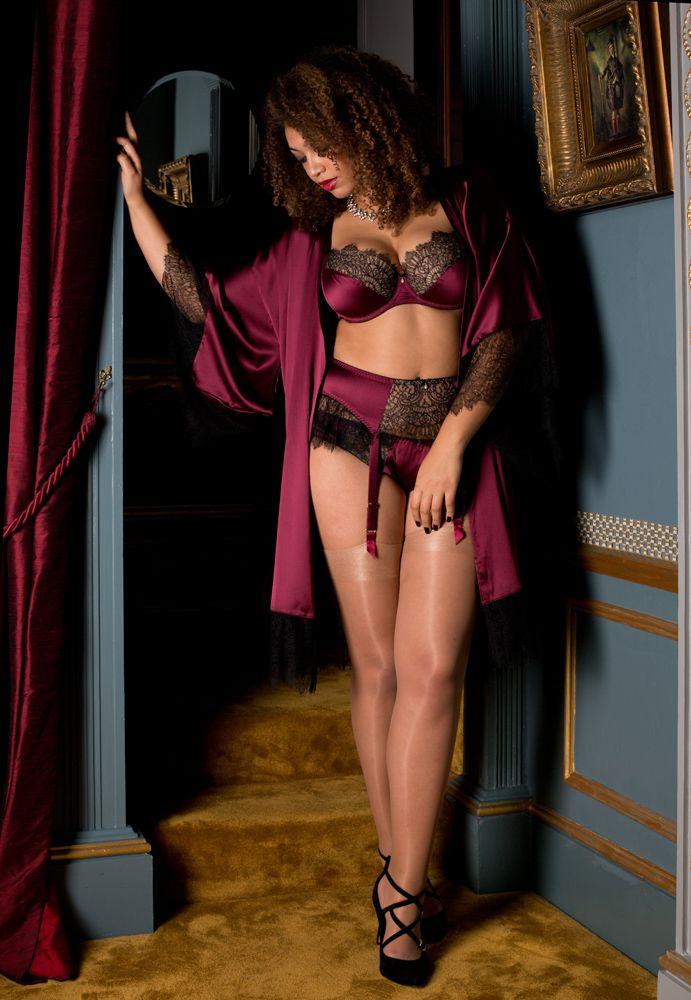 494b37b87 Harlow   Fox Eleanor Damson AW17 lingerie and nightwear set