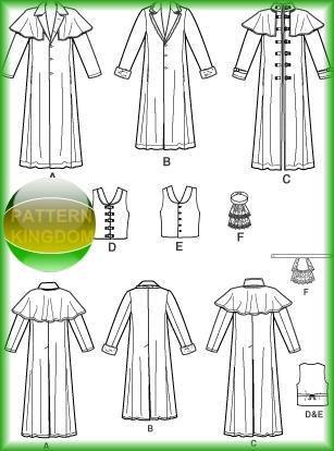Simplicity 4916 Van Helsing/Underworld Duster/Cloak Patterns ...