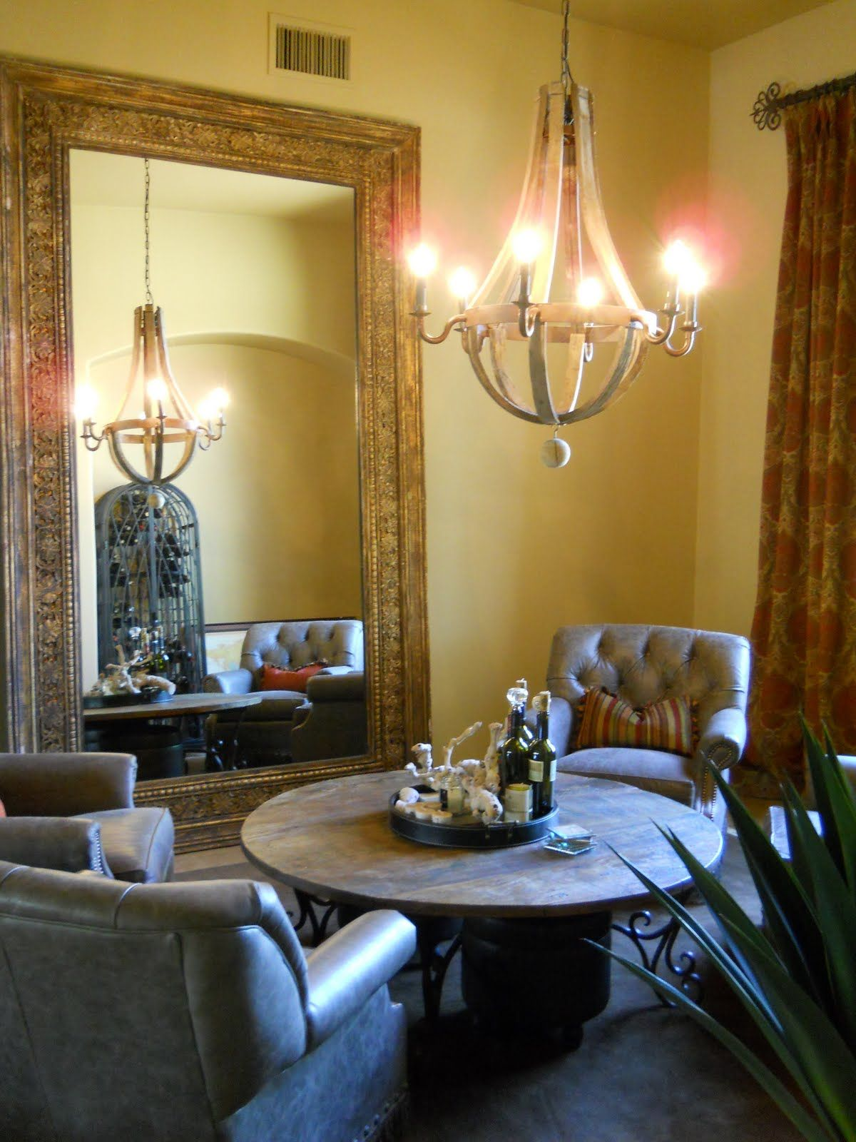 A Formal Dining Room Turned Into Wine Lounge Also Great Idea For Living That Is Rarely Used I Love It WANT Mirror