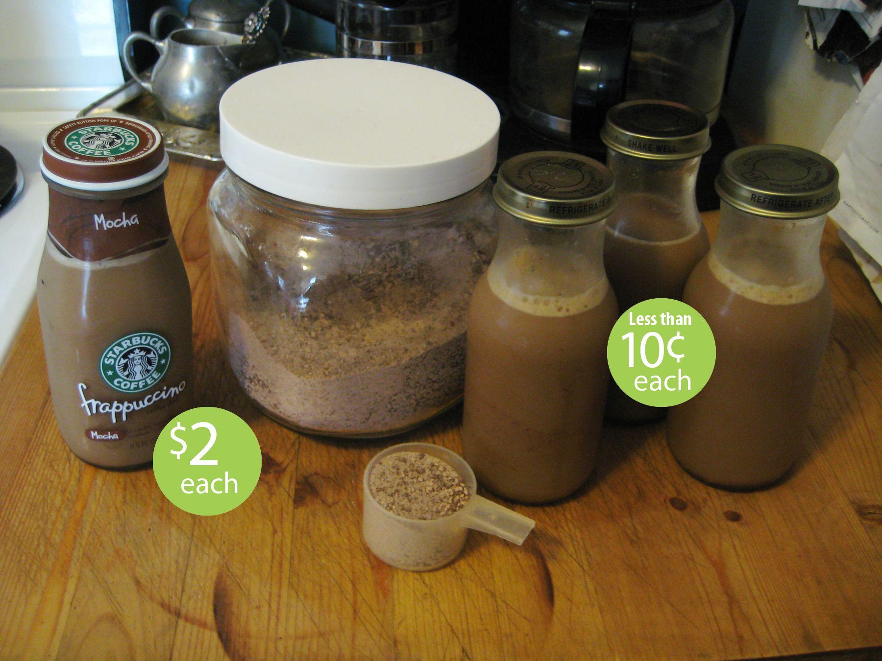 Homemade cold frappucino mix starbucks bottles coffee