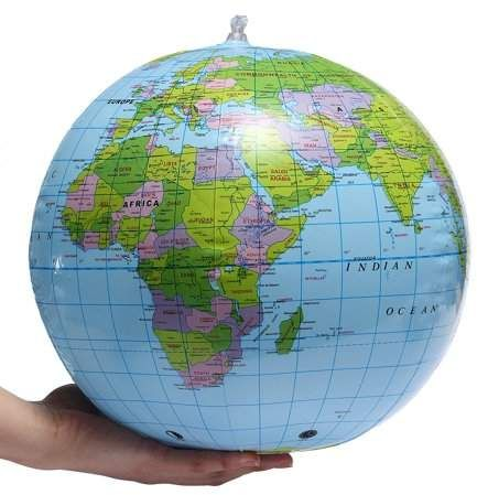 Maps, Atlases & Globes 38cm Inflatable World Globe Earth Teaching Geography Map Beach Ball Kids Toy World & Celestial Globes