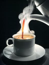 Steamy cup of fresh brewed coffee!
