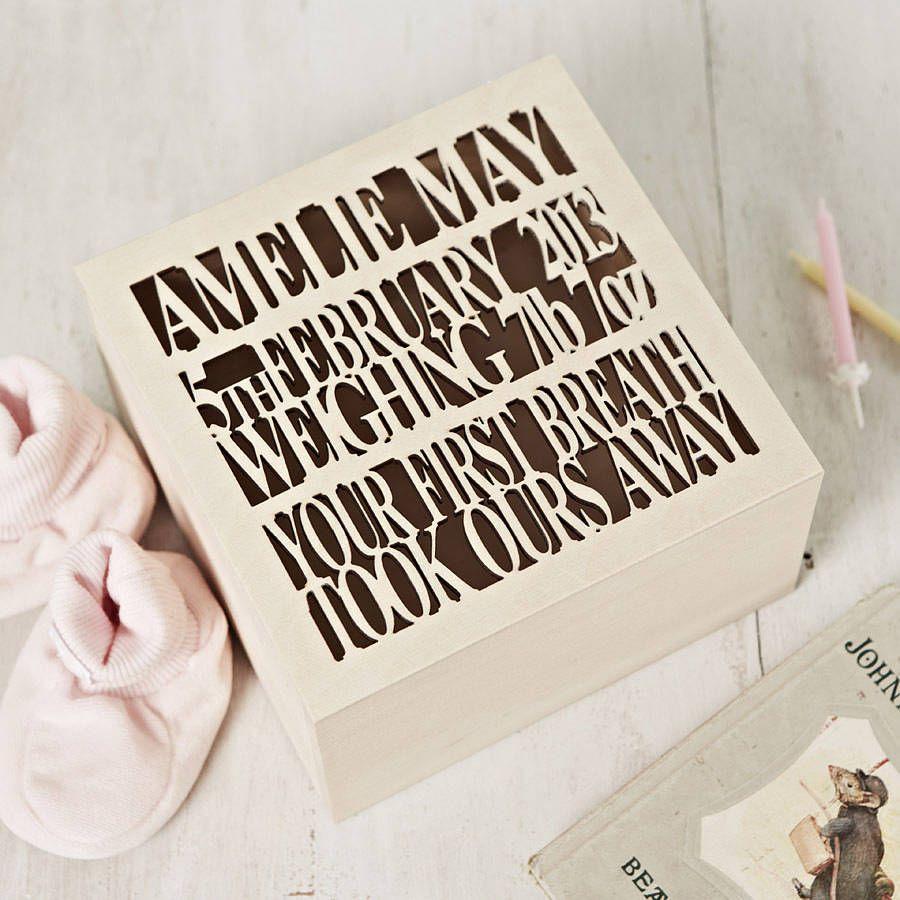 personalised wooden baby keepsake box baby keepsake keepsakes