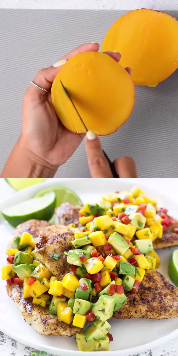 Grilled Chicken with Mango Avocado Salsa