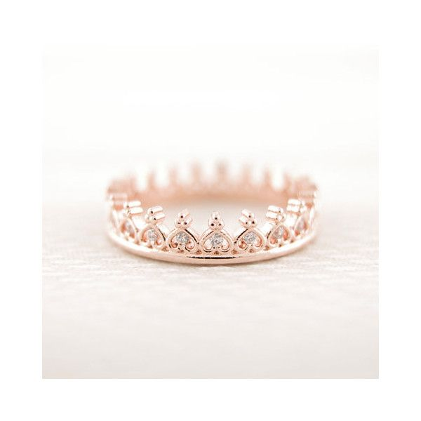 Dainty Crystal Crown Ring ($31) ❤ liked on Polyvore featuring jewelry, rings, crystal rings, crystal crown, crystal stone rings, crystal jewellery and crystal jewelry