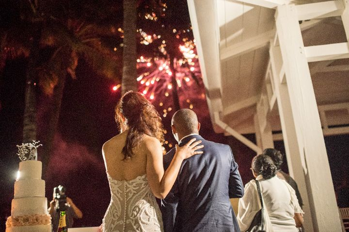 Firework display at wedding | Mauritius wedding | itakeyou.co.uk #wedding #fireworkwedding #firework #destinationwedding
