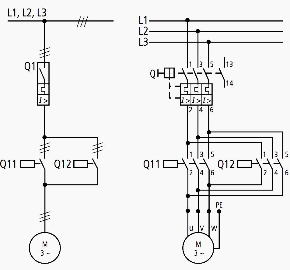 Motor Circuit Diagram 1 Pole And 3 Pole Representation Circuit Diagram Diagram Block Diagram
