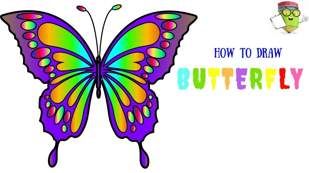 Cool pictures of animals to draw easy butterflies