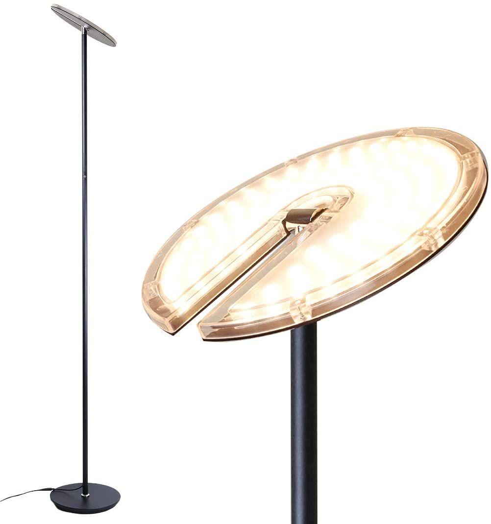 O Bright Dimmable Led Torchiere Floor Lamp 270 Tilt Head 3000 Lumens Adjustable Brightness Standing Pole Lamp Reading Light Floor Lamps For Living Room Bed Torchiere Floor Lamp Pole Lamps Lamps Living Room