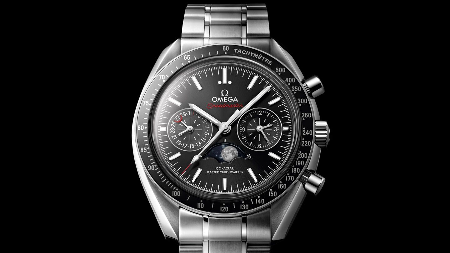 f6ff3b8dd OMEGA Watches: Speedmaster - Moonwatch Omega Co-Axial Master Chronometer  Moonphase Chronograph 44.25 mm - 304.30.44.52.01.001