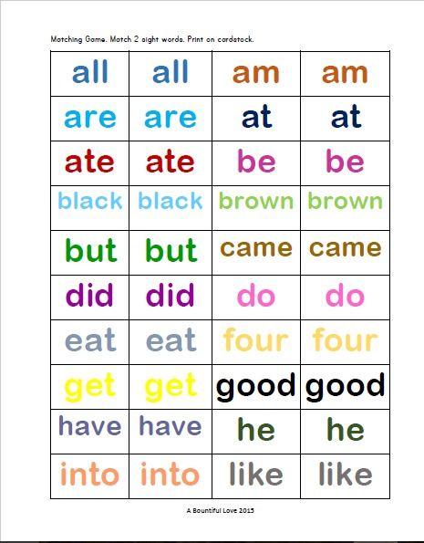 52 dolch sight words for kindergarten pinterest kindergarten educational activities and. Black Bedroom Furniture Sets. Home Design Ideas