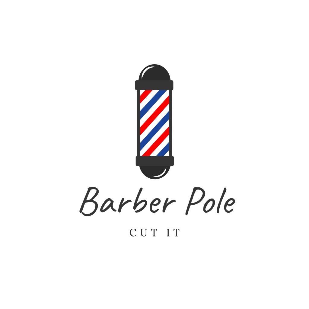 Barber Pole Salon Logo Barber Pole Salon Logo Barber