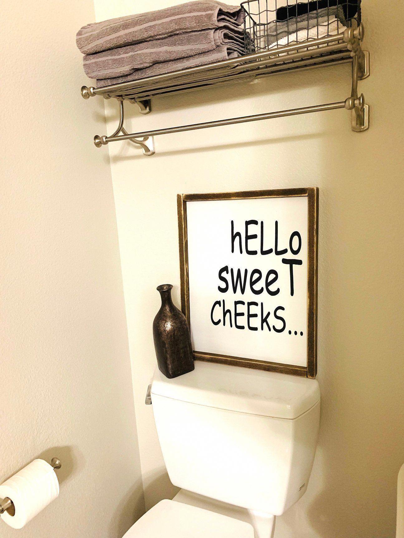 Funny Bathroom Signs, Bathroom Wall Art, Wooden Signs for Restroom