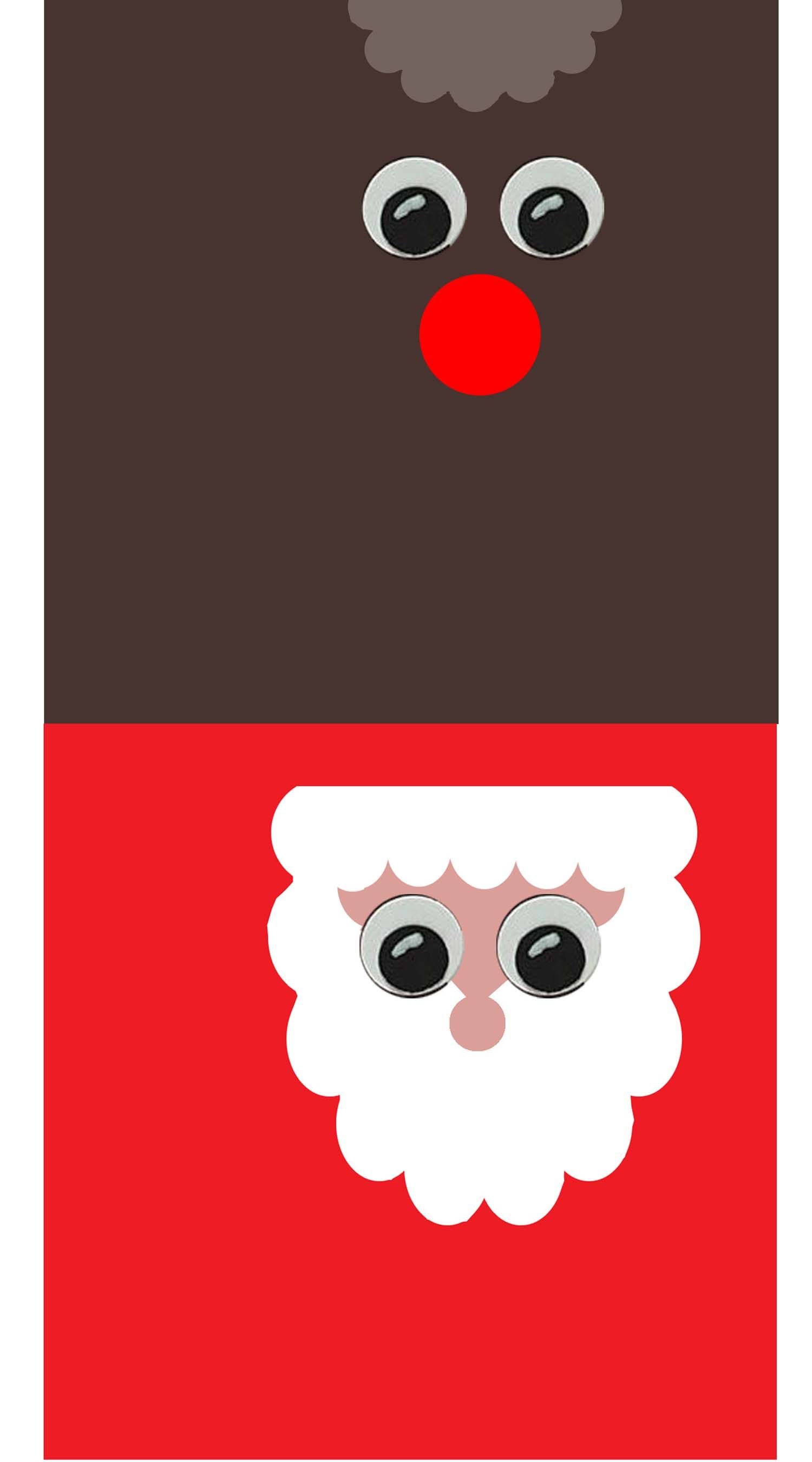 Santa And Rudolph Candy Wrapper Templates I Created Use Prtscr On