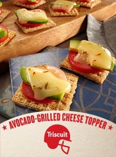 avocado grilled cheese topper
