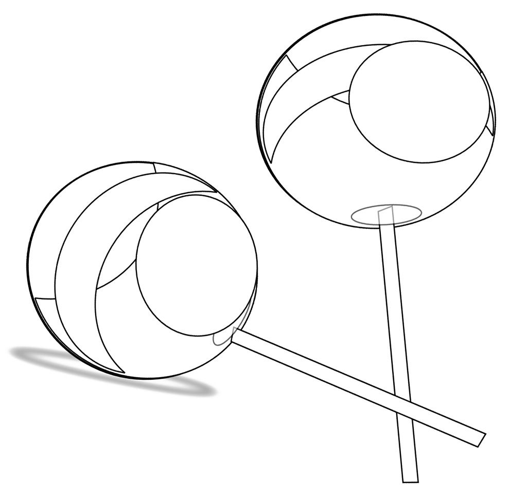 Two Lollipop Candy Coloring Page | Cookie | Pinterest