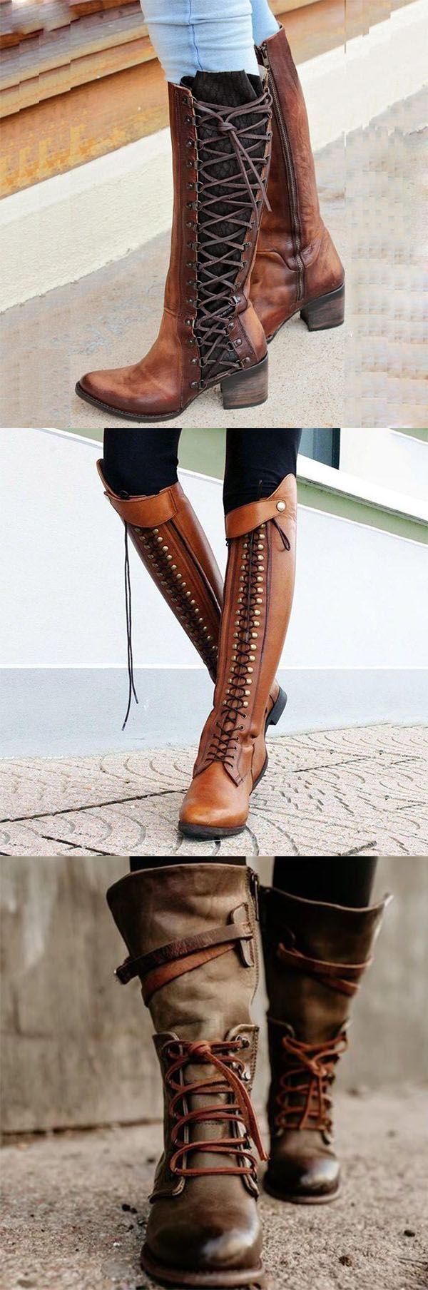 Up Hot Lace Zipper Boots Style women Vintage European Sale 08nwOkXP